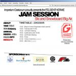 The design for the Jam Session Contest 2005 website