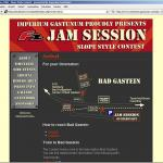 The design for the Jam Session Contest 2006 website